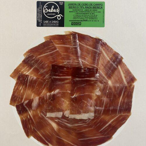 Plato de jamón de cebo de campo 75% raza ibérica